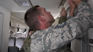 Georgia Air National Guard installs 3D-printed aircraft part