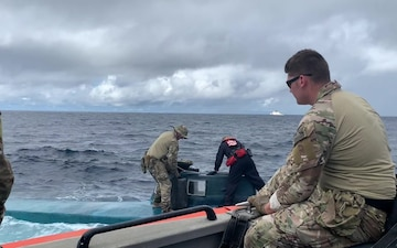 Coast Guard intercepts suspected narcotic-trafficking semi-submersible vessel