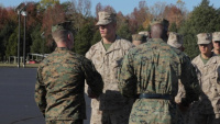 Noah Furbish earns the title of United States Marine