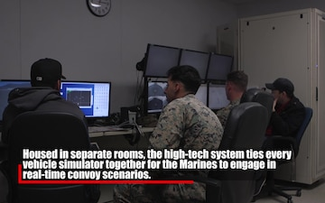 Camp Pendleton Marines take on Combat Convoy Simulator