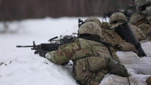 B-Roll infantry and engineers platoon live fire