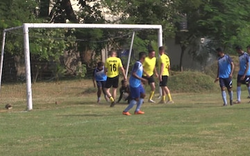 Tiger TRIUMPH | U.S. Armed Forces compete alongside Indian Armed Forces in a game of soccer.