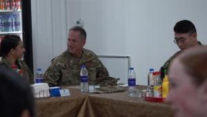 Air Force Chief of Staff Gen. David Goldfein visits Airmen at Al Dhafra Air Base