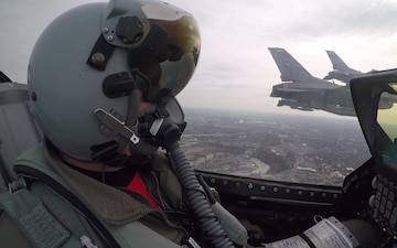 180th Fighter Wing Flies Over Browns Game