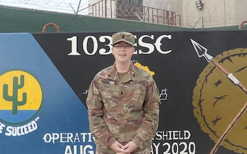 1LT Tabitha Nessel Thanksgiving Shoutout