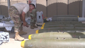 B-Roll 2/2 of the 726th Expeditionary Air Base Squadron Munitions Systems Team