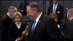Secretary Pompeo attends the NATO North Atlantic Council Working Session