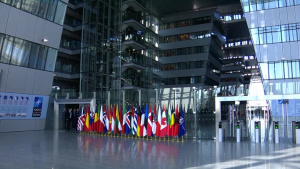 Bulgarian Minister of Foreign Affairs arrival at NATO Foreign Ministers meeting