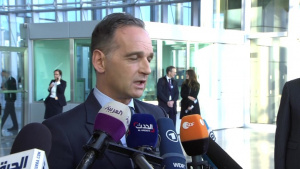 German Minister of Foreign Affairs arrival at NATO Foreign Ministers meeting