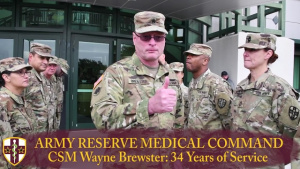 Command Sgt. Maj. Wayne Brewster retires after 34 years of service