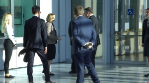 Lithuanian Minister of Foreign Affairs arrival at NATO Foreign Ministers meeting
