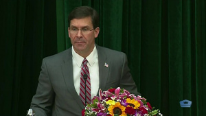 Esper Speaks at Drug Administration Department of Vietnam