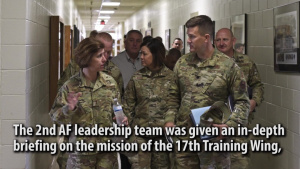 2nd Air Force Leadership Team Visits Goodfellow