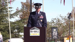 "Brig. Gen. E. John ""Dragon"" Teichert delivers keynote address during Veterans Day"