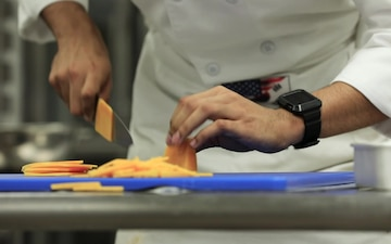 B-Roll: Fort Bliss Culinary Team trains knife skills