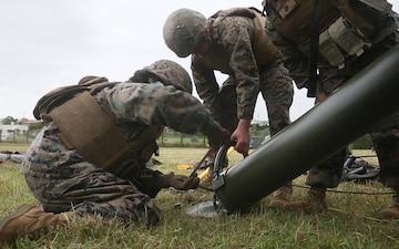 31st MEU Marines Conduct Tactical Elevated Antenna Mast System Setup Training
