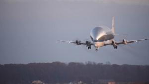 NASA Super Guppy Landing