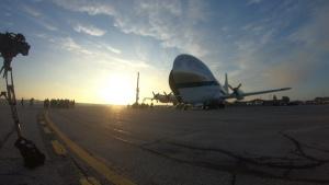 NASA Super Guppy Unloading Orion Spacecraft (Timelapse)