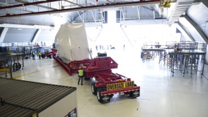 NASA Orion Space Capsule Stored in Hangar (Timelapse)