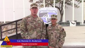 1ADSB COL Ronnie D. Anderson& CSM Carla M. Hill