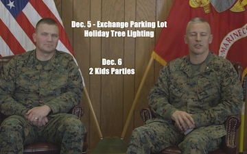 Marine Corps Base Quantico Commander and Sergeant Major give a Holiday Message
