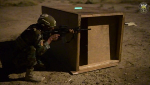 Iraqi Special Forces night live fire