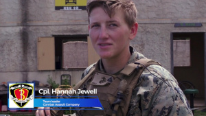 Cpl. Hannah Jewell, Team Leader, Combat Assault Company