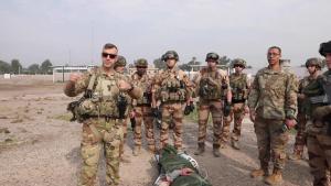 U.S. and French Coalition medical training exercise