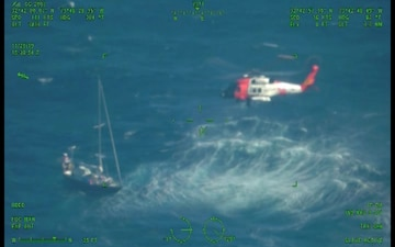 Coast Guard hoists man from disabled vessel 170 miles off Pamlico Sound, North Carolina