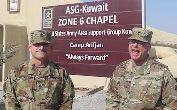 Holiday Shout Out from the USARCENT Forward Command Chaplain and Chief Religious Affairs NCO