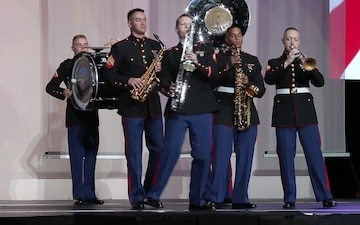 Marines perform at Bayou Classic Battle of the Bands
