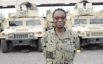 Forward-deployed Yeoman 2nd Class Zandra Solomon Holiday Shout Outs