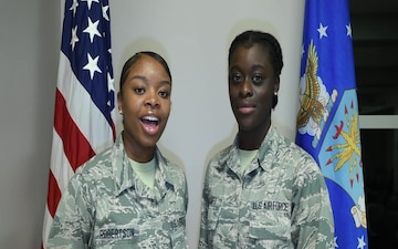 Airman Basic Robertson and Airman Basic Emanfu