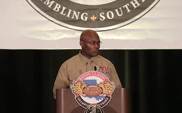 Marines attend Bayou Classic Coaches Luncheon