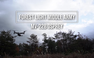 Forest Light Middle Army MV-22B On-Off Drills