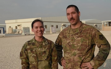 Captain William Katz sends holiday greetings from Al Udeid Air Base.