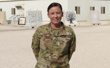 Major Seana Eason sends holiday greetings from Al Udeid Air Base.