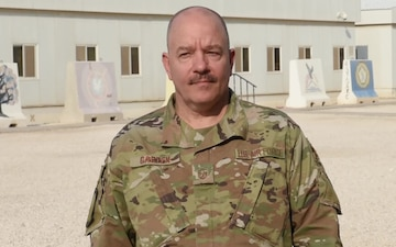 Master Sergeant Nicholas Garten sends holiday greetings from Al Udeid Air Base