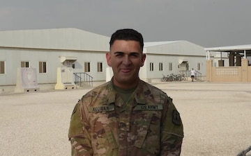 Sergeant Jesse Aguilar sends holiday greetings from Al Udeid Air Base