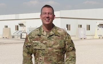 Senior Master Sergeant Christopher Cratty sends holiday greetings from Al Udeid Air Base.