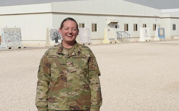 Senior Master Sergeant Amanda Millsap sends holiday greetings from Al Udeid Air Base.