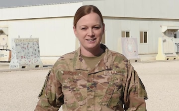 Technical Sergeant Carrie Darrow sends holiday greetings from Al Udeid Air Base.