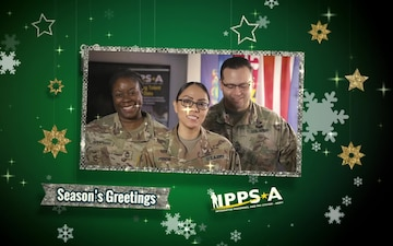Sgt. 1st Class Minor, Master Sgt. Spearman, and Sgt. 1st Class Ortiz Holiday Greeting