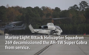 AH-1W Sundown Ceremony