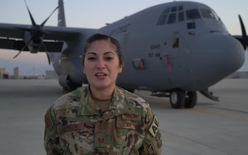Tech. Sgt. Allison Espinoza holiday greeting - San Antonio, TX