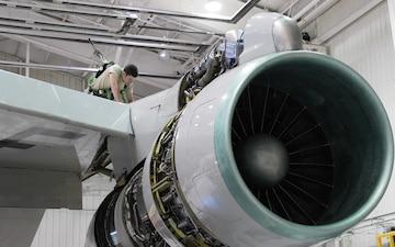 U.S. Airmen conduct isochronal inspection