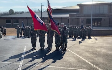 B-roll 39th Infantry Brigade Combat Team change of command ceremony