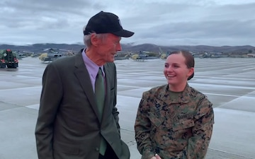 B-Roll: Clint Eastwood visits MCB Camp Pendleton