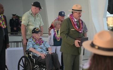 USS Arizona Survivor Lauren Bruner Interment Ceremony B-Roll Package