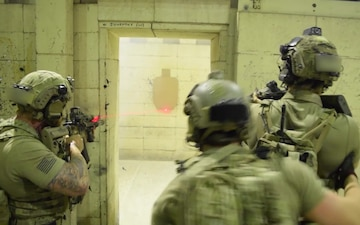 Broll Footage of Green Berets conducting room clearing drills created in support of Special Operations Recruiting Battalion Campaign